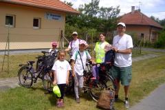 Mária maraton kerékpáros zarándokai Ásotthalmon 2017