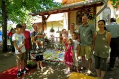 zákányszéki kerékpáros zarándoklat résztvevői Nagyboldogasszony búcsúi misén 2018